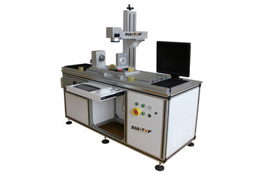 চীন Customized  Fiber Laser Marking Machine for Cylindrical Surface and Round Products সরবরাহকারী