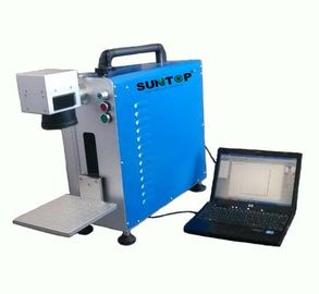 চীন Portable Fiber Laser Marking Machine for Auto Parts / Hardware Marking Power 30W সরবরাহকারী