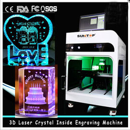 চীন 3D Crystal Laser Inner Engraving Machine 2000HZ speed 120,000 dots / Minute সরবরাহকারী