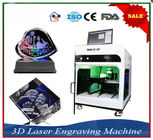 ভাল মানের Portable Fiber Laser Marking Machine & Laser Engraver Equipment 3D Crystal Laser Inner Engraving Machine বিক্রিতে