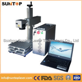 চীন 20W portable fiber laser marking machine for plastic PVC data matrix and barcode পরিবেশক