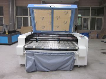 চীন Laser Fabric Cutter CO2 Laser Cutting Engraving Machine , Laser Power 100W পরিবেশক